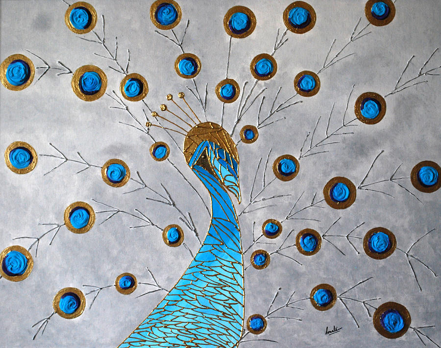 Peacock And Its Beauty Painting  - Peacock And Its Beauty Fine Art Print
