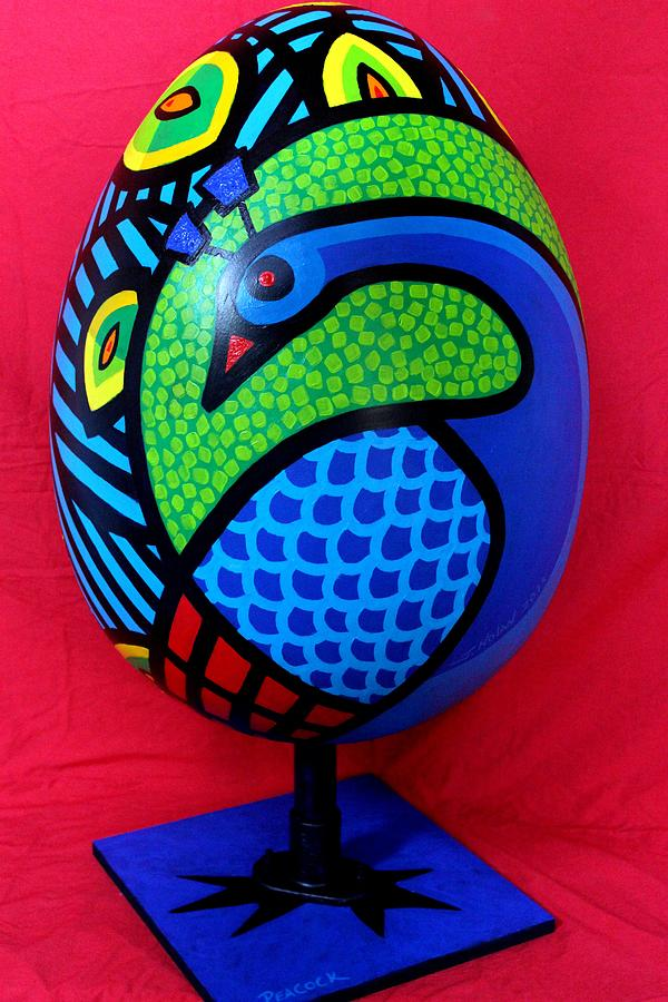 Peacock Egg Painting