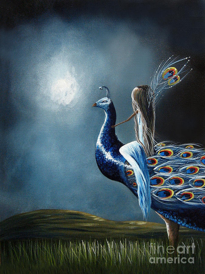 Peacock Painting - Peacock Princess By Shawna Erback by Shawna Erback