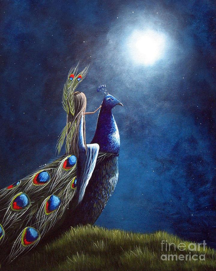 Peacock Princess II By Shawna Erback Painting