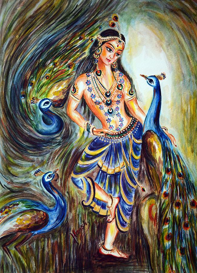 Peacocks Lover Painting By Harsh Malik