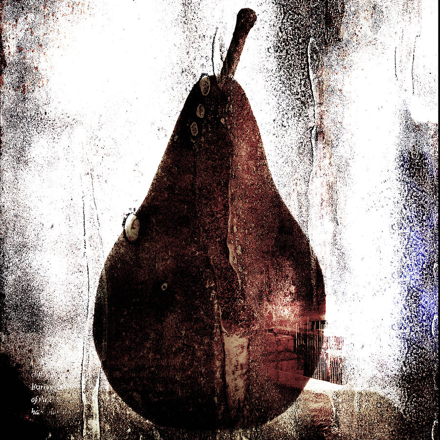 Pear In Window Photograph