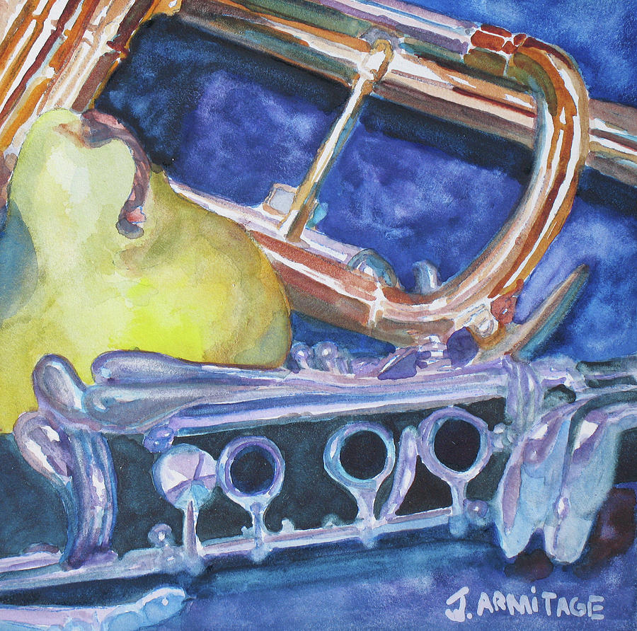 Pear Roadie Painting  - Pear Roadie Fine Art Print