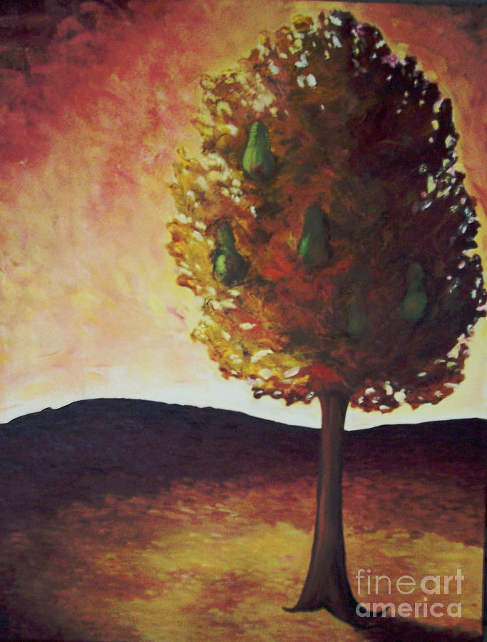 Pear Tree Painting  - Pear Tree Fine Art Print