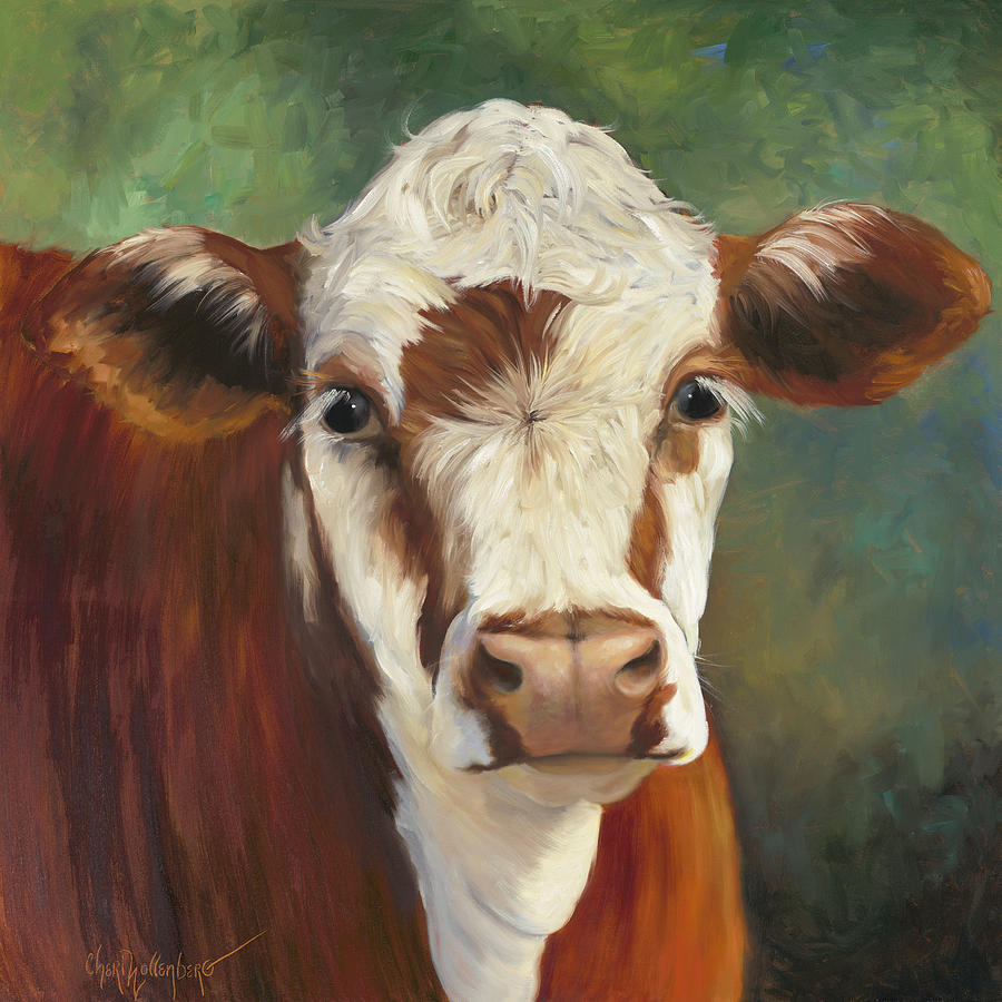 Black Cow Painting On Canvas