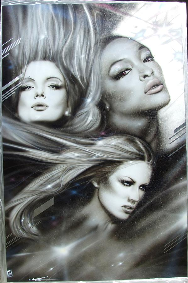 Women Paintings Painting - pearl Passions by Christian Chapman Art