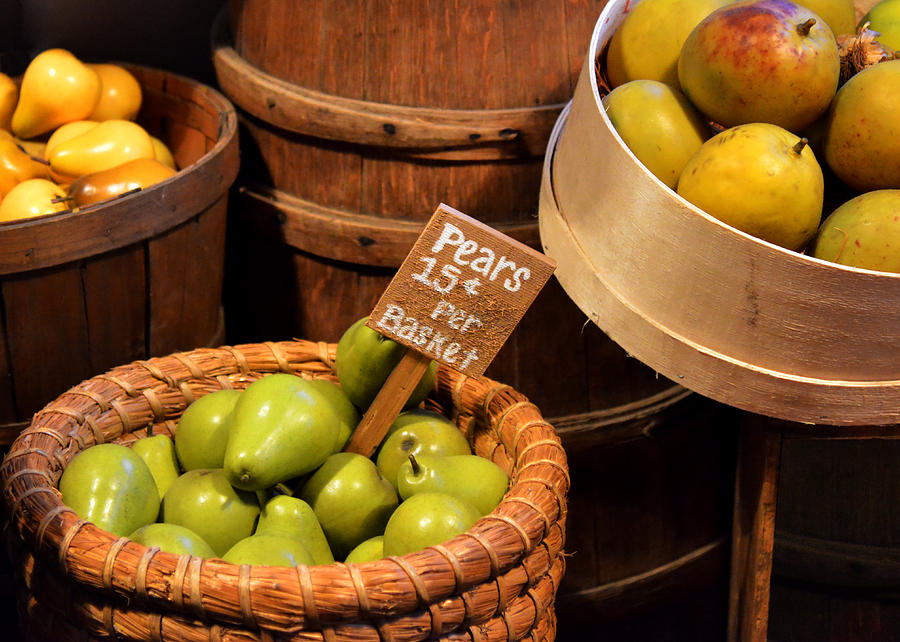 Pears Photograph - Pears - 15 Cents Per Basket by Christine Till