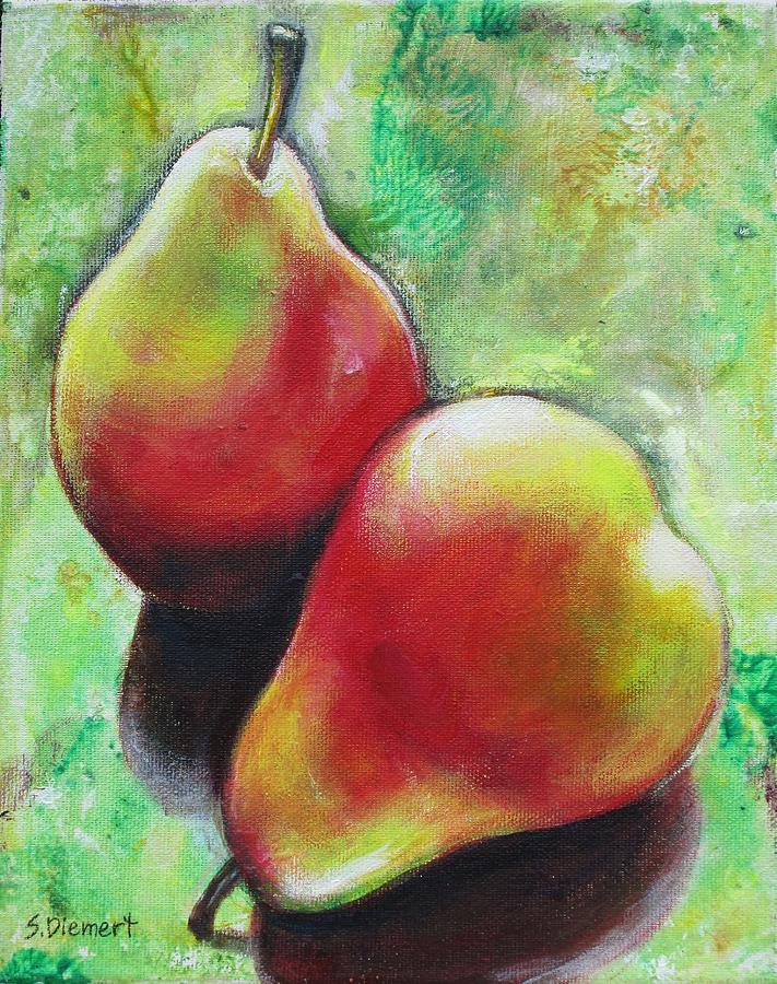 Pear Painting - Pears 2 by Sheila Diemert