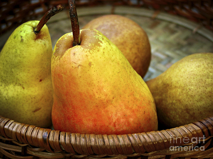 Pears In A Basket Photograph