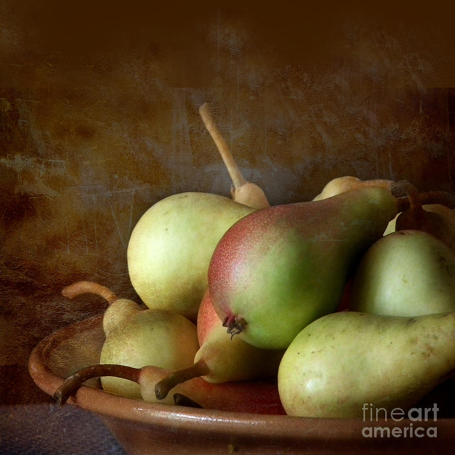 Pears On A Plate  Photograph  - Pears On A Plate  Fine Art Print