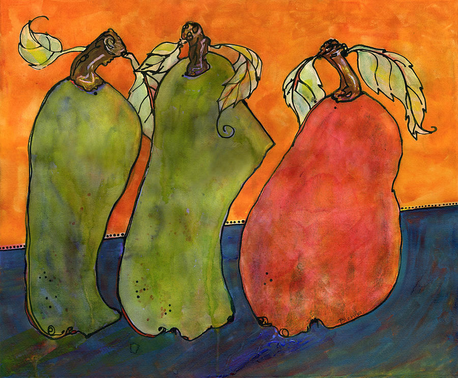 Art Painting - Pears Surrealism Art by Blenda Studio