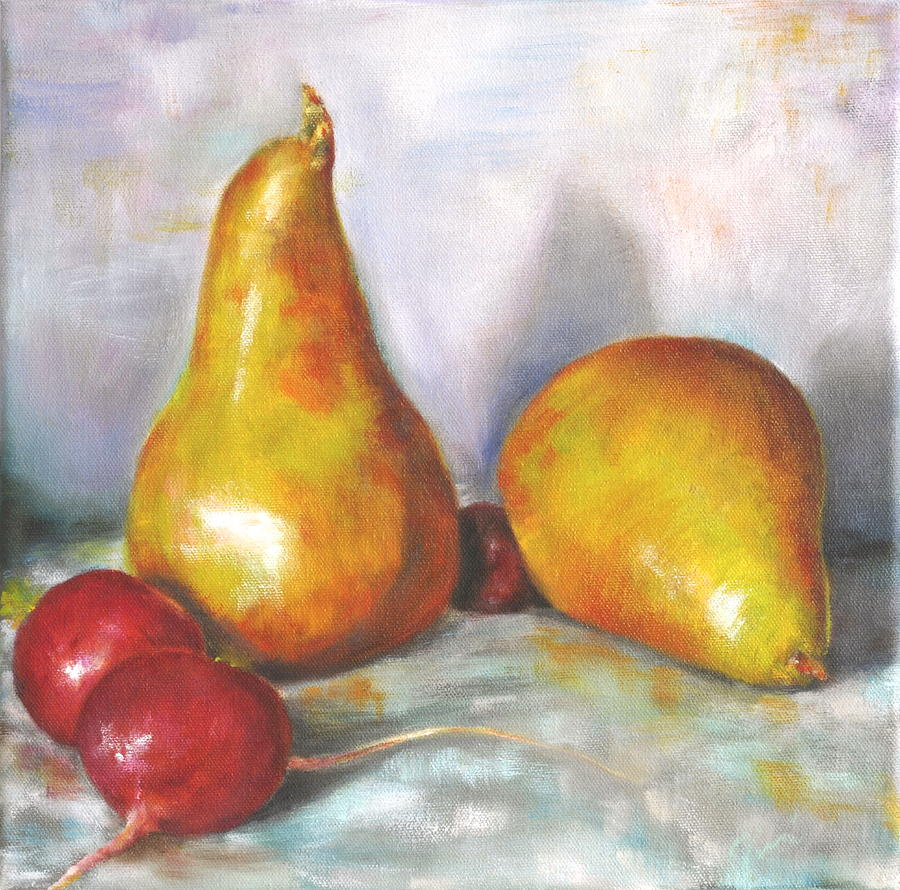 Pears With Radishes Painting  - Pears With Radishes Fine Art Print