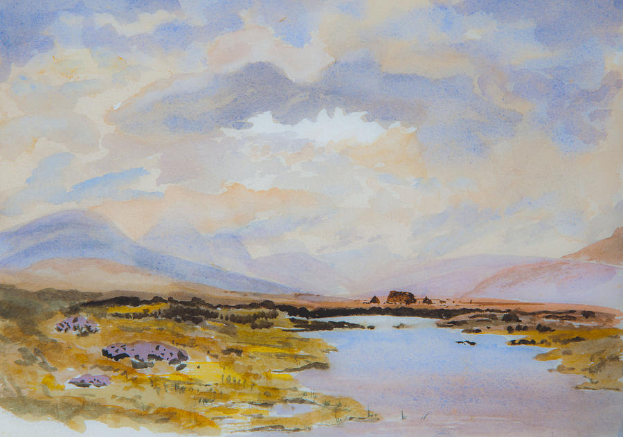 Peat Bogs Of Connemara Painting  - Peat Bogs Of Connemara Fine Art Print