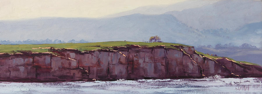 Pebble Beach California Painting  - Pebble Beach California Fine Art Print