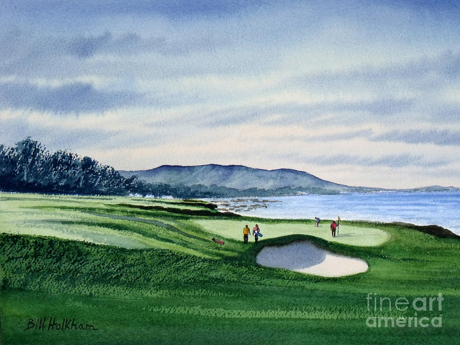 Pebble Beach Golf Course Painting  - Pebble Beach Golf Course Fine Art Print