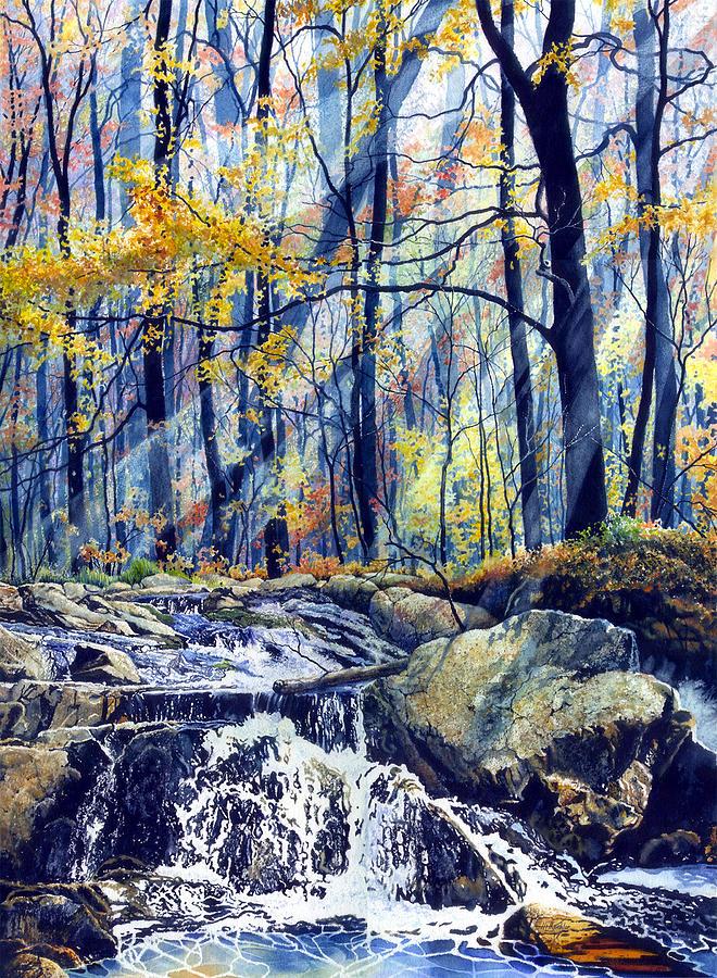 Pebble Creek Autumn Painting