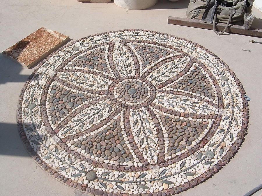 Peble Stone Mosaic Relief