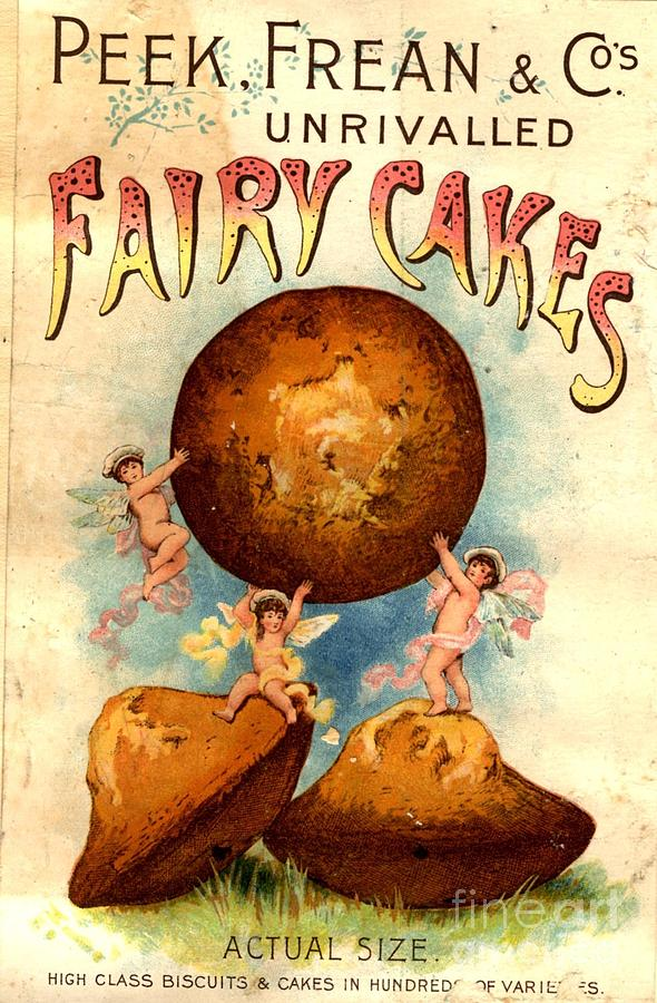 Peek, Frean And Co 1890s Uk Fairy Cakes Drawing  - Peek, Frean And Co 1890s Uk Fairy Cakes Fine Art Print