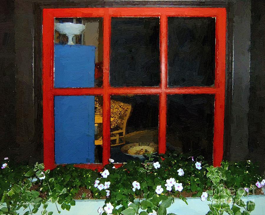 Window Painting - Peeking In by RC deWinter