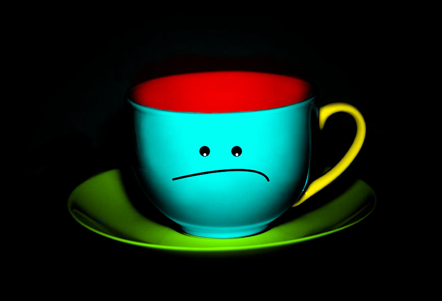 Peeved Colorful Cup And Saucer Photograph