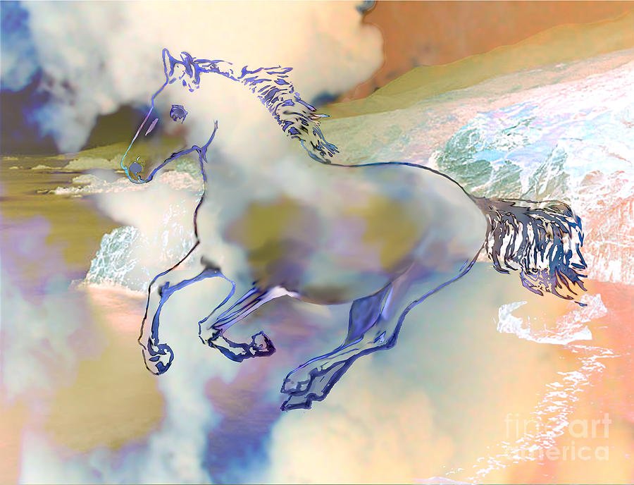 Pegasus Digital Art  - Pegasus Fine Art Print