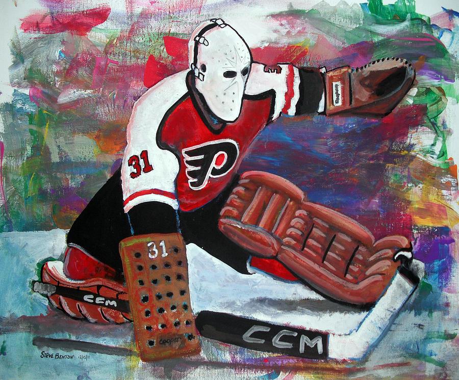 Nhl Painting - Pelle Lindbergh by Steve Benton