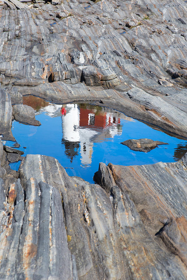 Pemaquid Lighthouse Reflection Photograph
