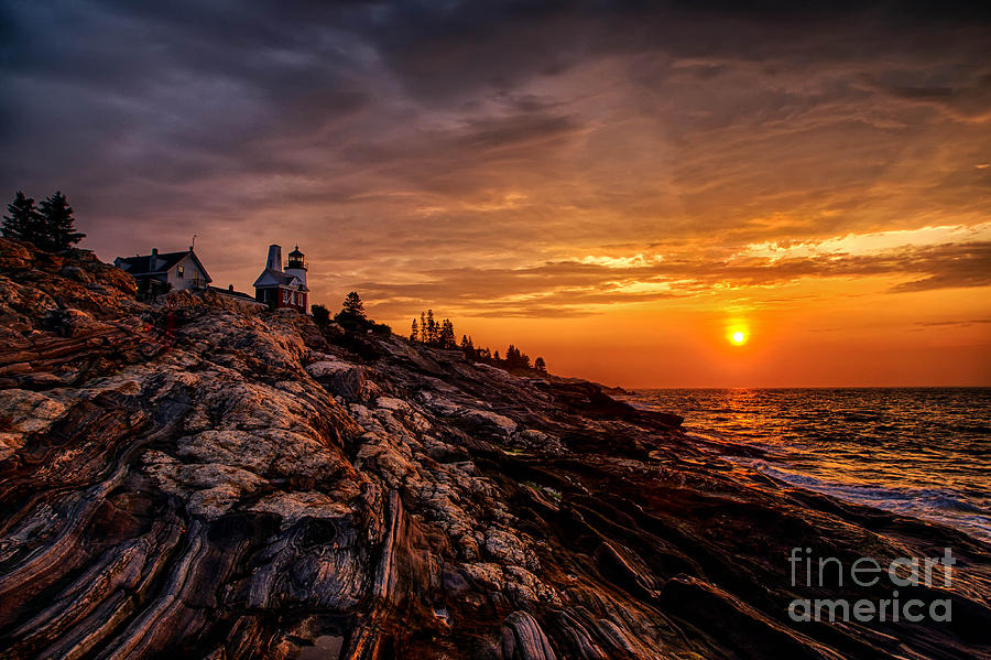 Atlantic Photograph - Pemaquid Sunrise  by Jerry Fornarotto