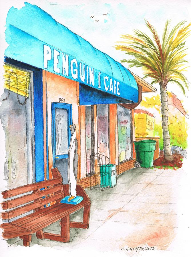 Penguin Cafe In Laguna Beach Ca Painting
