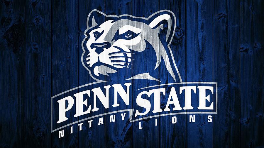 Penn State Barn Door Mixed Media - Penn State Barn Door by Dan Sproul