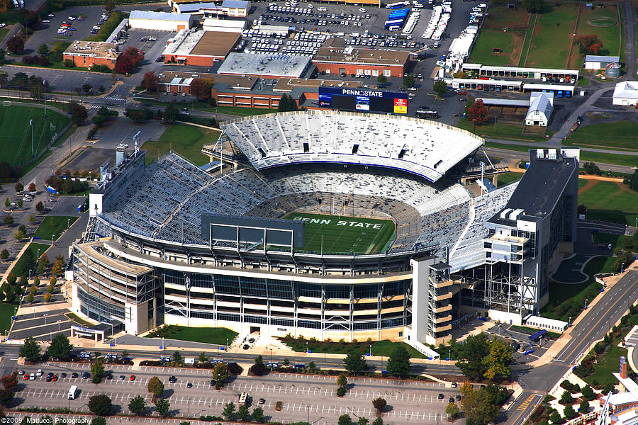 Penn State Beaver Stadium Aerial Photograph