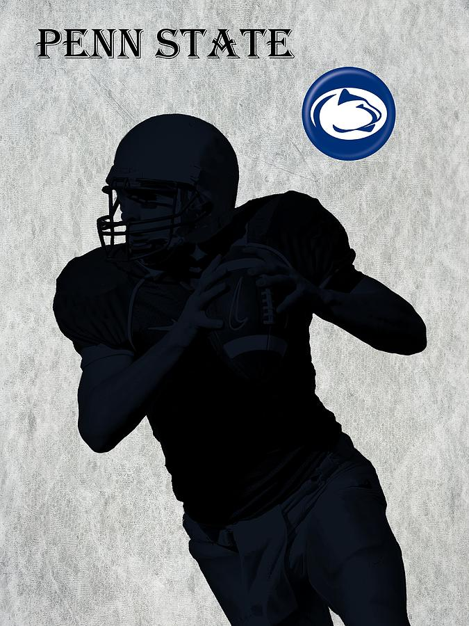 Penn State Football Digital Art  - Penn State Football Fine Art Print