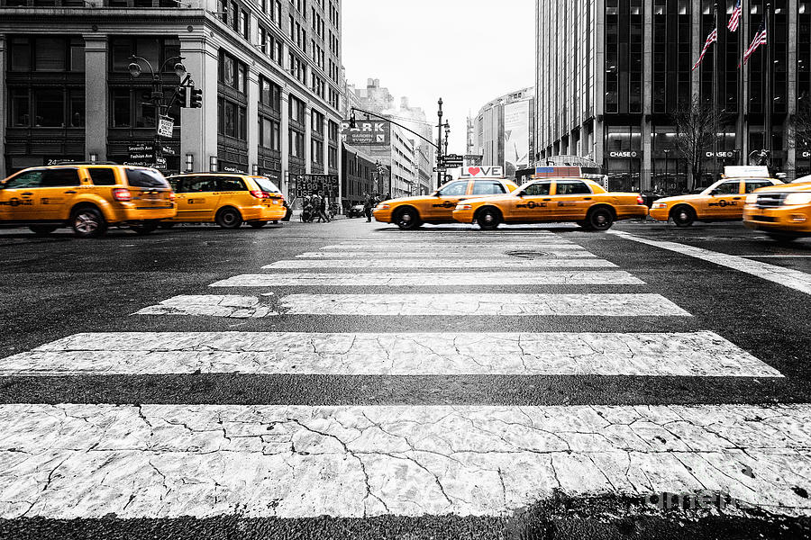 Penn Station Yellow Taxi Photograph