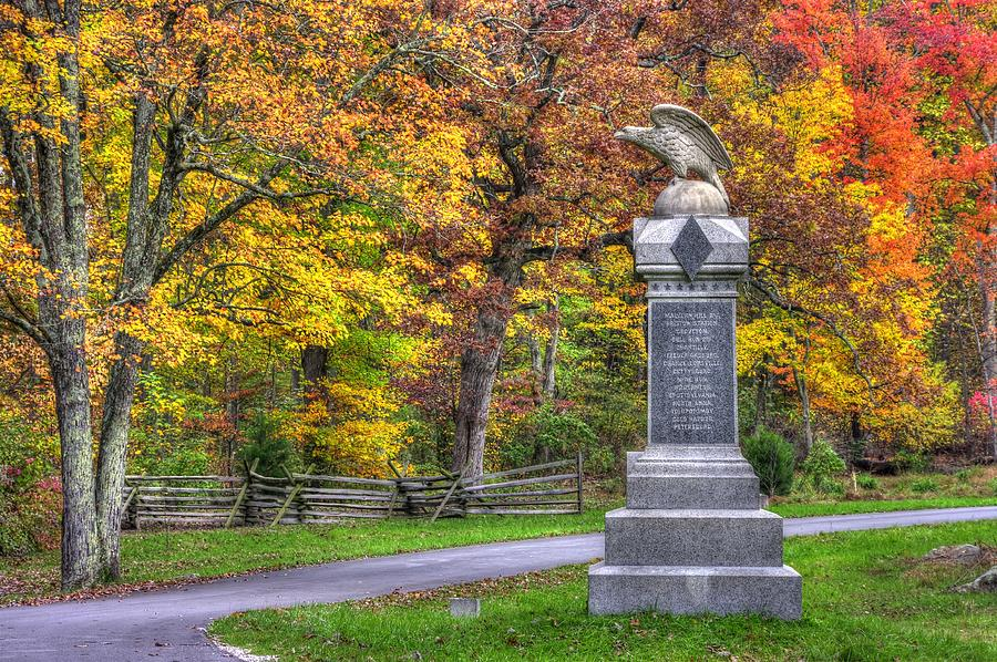 Pennsylvania At Gettysburg - 115th Pa Volunteer Infantry De Trobriand Avenue Autumn Photograph  - Pennsylvania At Gettysburg - 115th Pa Volunteer Infantry De Trobriand Avenue Autumn Fine Art Print