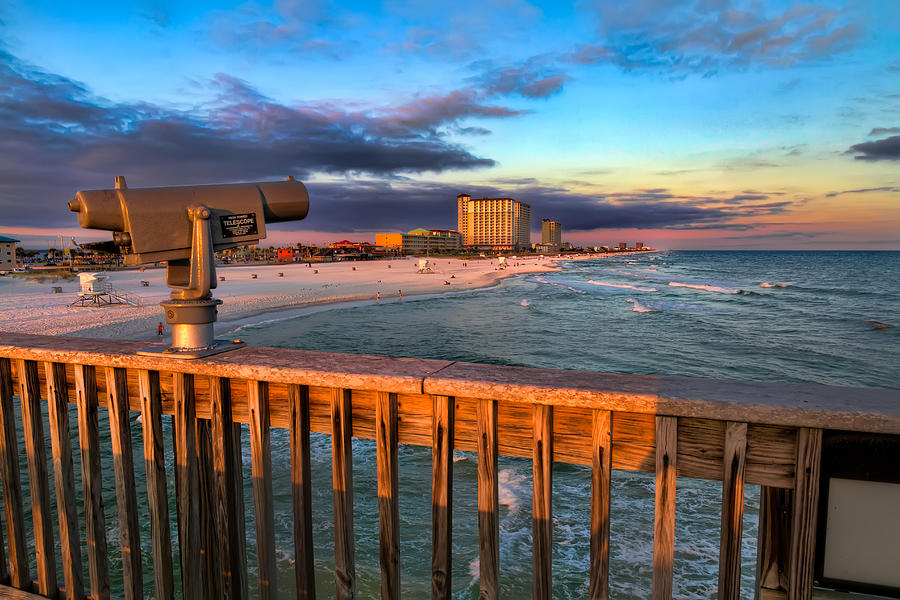 Pensacola beach from the pier photograph by tim stanley for Pensacola beach fishing pier