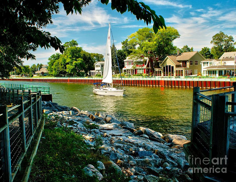 Pentwater Channel Michigan Photograph