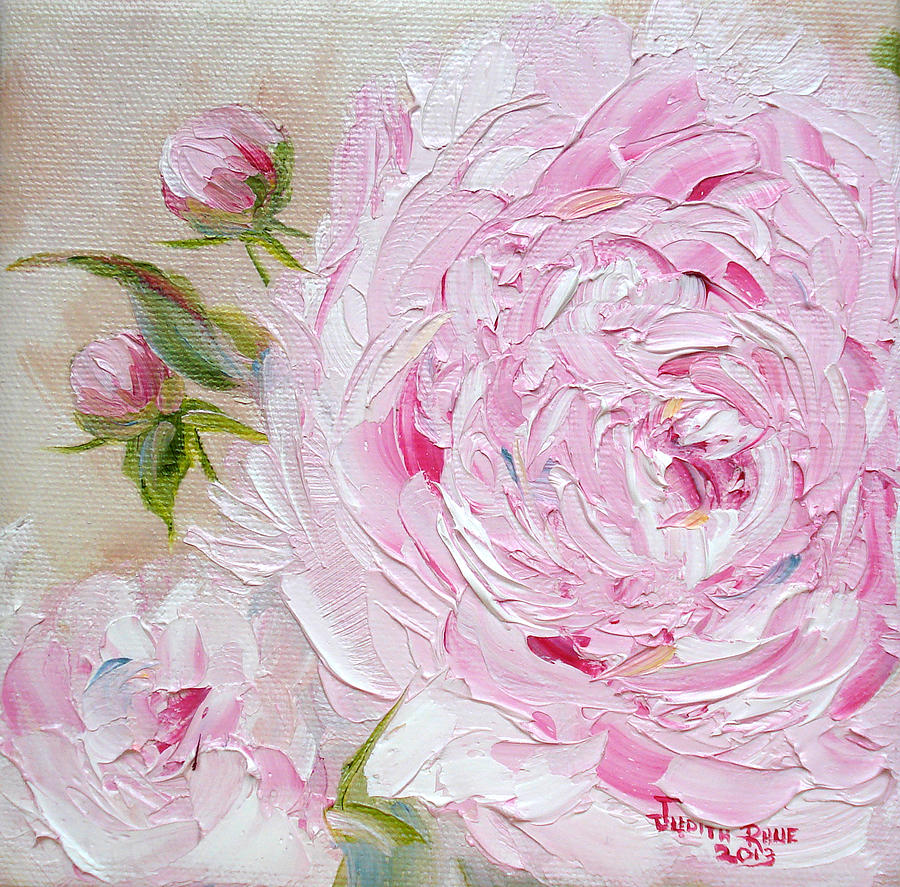 oil painting pink flower - photo #10