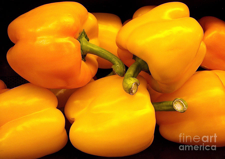 Perfect Yellow Peppers Photograph