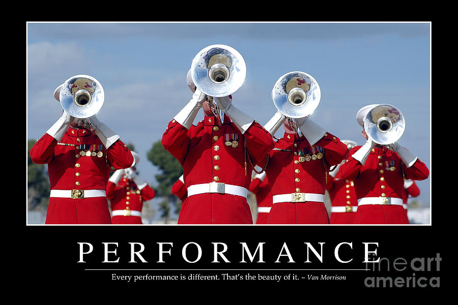 Performance Inspirational Quote Photograph