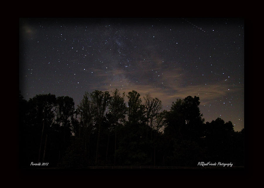 Perseid Meteor In Milky Way Photograph