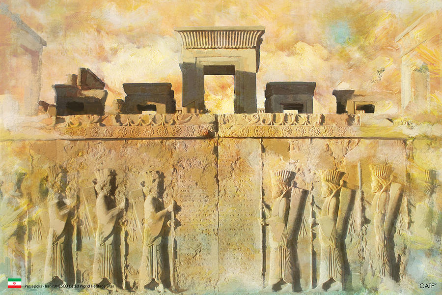 Iran Art Painting - Persepolis  by Catf