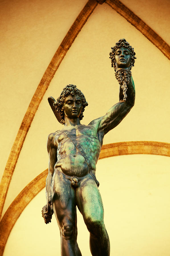 an analysis of perseus with the head of medusa