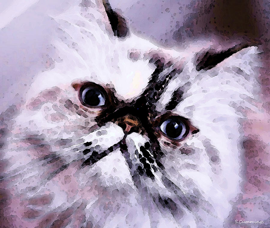 Persian Cat Art - Just Moi Painting  - Persian Cat Art - Just Moi Fine Art Print
