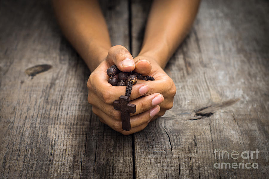 Person Praying Photograph