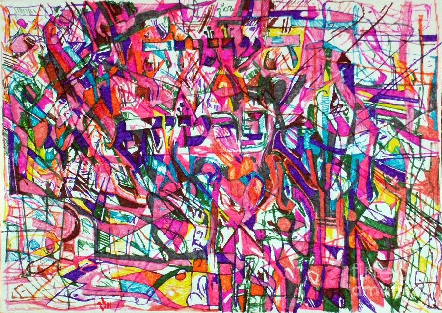 Drawing - Personal Providence by David Baruch Wolk