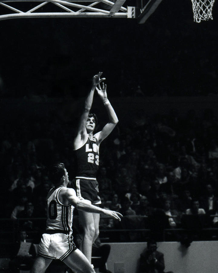 Pete Maravich Shooting From Distance Photograph