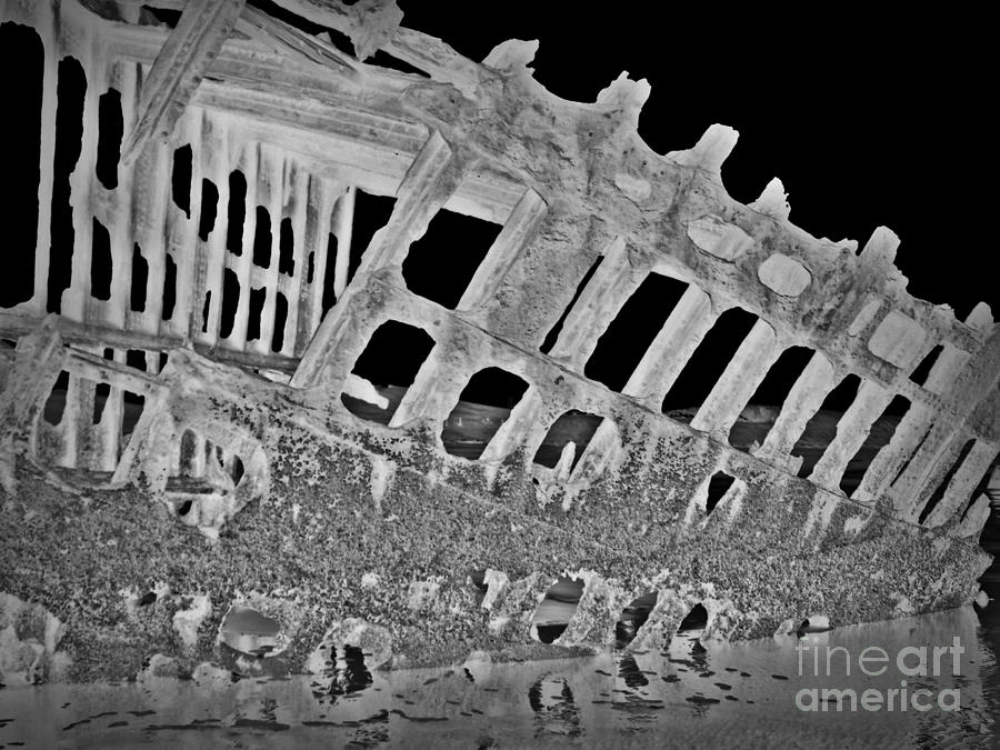 Peter Iredale In Reverse Bw 7 Mixed Media