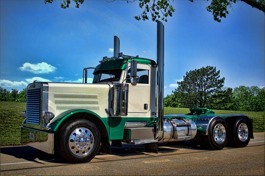 Peterbilt Day Cab Semi Truck Photograph By Tim Mccullough