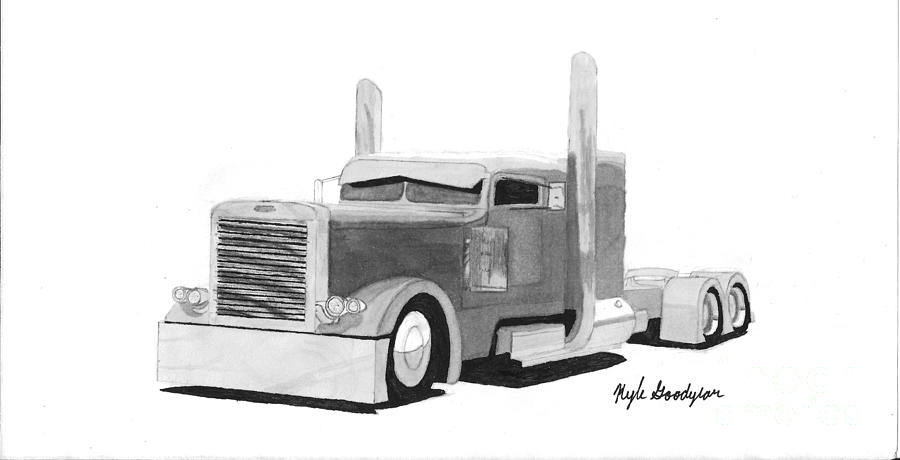 gallery for gt semi truck drawing