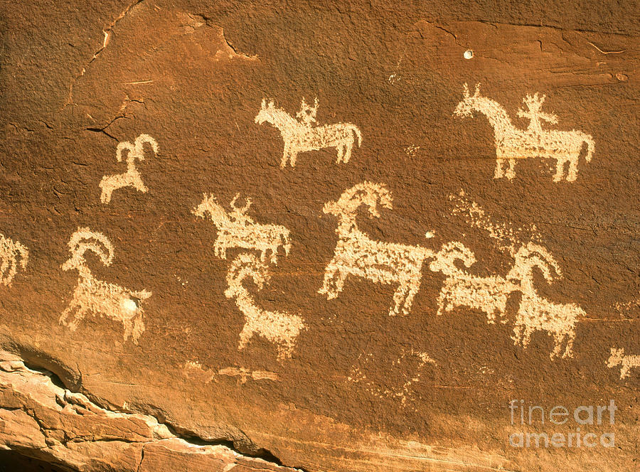 Petroglyphs, Utah Photograph